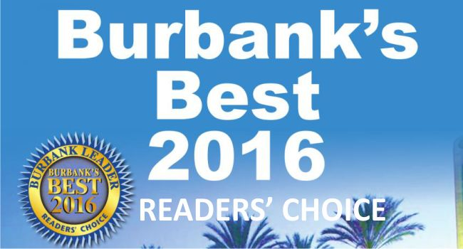 Readers' Choice Best Opthalmologist 2016 for Burbank